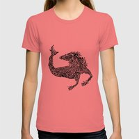 Hippocampus Womens Fitted Tee Pomegranate SMALL