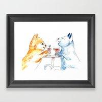 Cat Sundae Framed Art Print