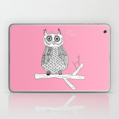 Pink Owl Gives A Hoot Laptop & iPad Skin