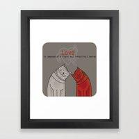 LOVE Is A Single Soul In… Framed Art Print