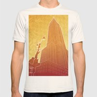 New Empire City Mens Fitted Tee Natural SMALL