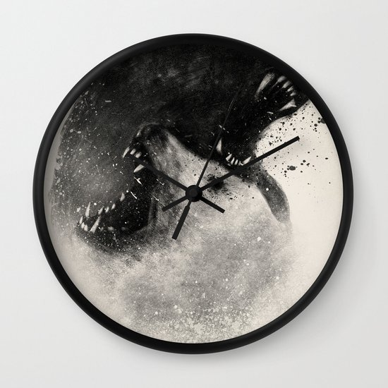 Polar Opposites  Wall Clock