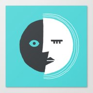 Two-Faced Moon Canvas Print