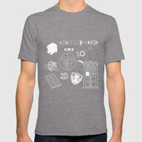 Wibbly wobbly... stuff Mens Fitted Tee Tri-Grey SMALL
