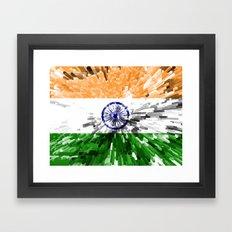India Flag - Extrude Framed Art Print
