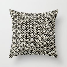 Silver net Throw Pillow