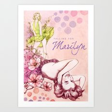 Falling for Marilyn Art Print