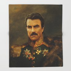 Tom Selleck - replaceface Throw Blanket