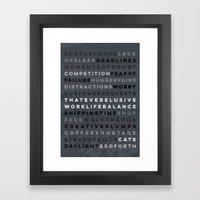 A Maker's Life #2 Framed Art Print