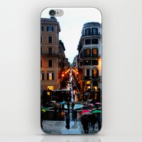 Rain in Rome in Colour iPhone & iPod Skin