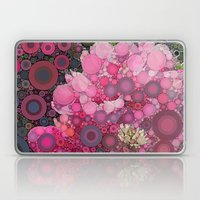 Pink Flowers at Twilight Abstract Laptop & iPad Skin