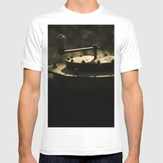 rusty White Mens Fitted Tee SMALL