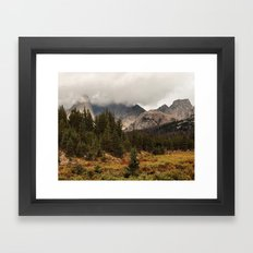 Moody Morning in the Wyoming Wilderness Framed Art Print