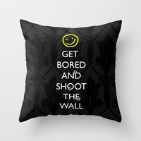 Smiley Target Throw Pillow