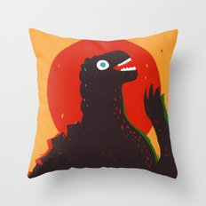 Godzilla Welcomes You to Monster Island, Gojira Throw Pillow