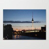 Berlin at night Canvas Print
