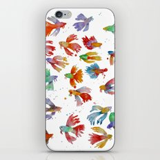 Colorful fishes iPhone & iPod Skin