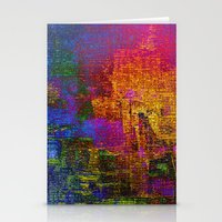 Abstract Tapestry Stationery Cards