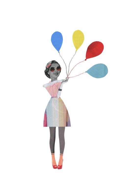 Baloons, up, UP and away! Art Print