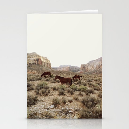 Hualapai Hilltop Horses Stationery Card