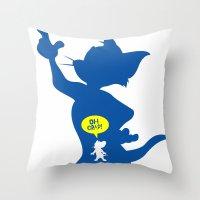 Tom & Jerry Throw Pillow