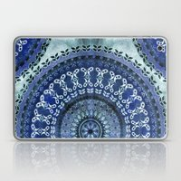 Vintage Blue Wash Mandala Laptop & iPad Skin