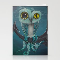 BLue Octowl Stationery Cards
