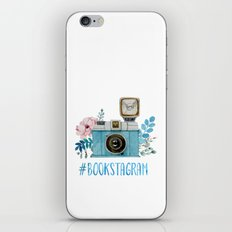 Blue Bookstagram iPhone & iPod Skin