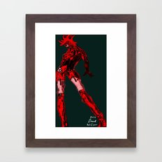 Web weavers [Digital Figure Illustration] Framed Art Print