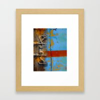 abstract 1 / textural /  Framed Art Print