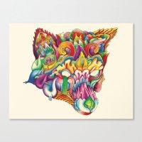 Fox in Armor Canvas Print