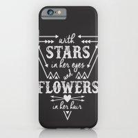 Stars in Her Eyes Flowers in Her Hair iPhone 6 Slim Case