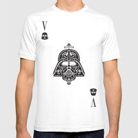 Darth Vader Card Mens Fitted Tee White SMALL