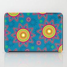 Moroccan Flower Blue iPad Case