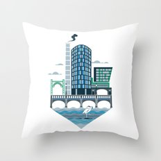 Welcome to the Riverside Quarter Throw Pillow