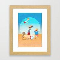 Hello Summer Framed Art Print