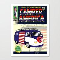 Camper America Canvas Print