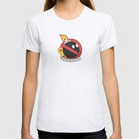Bob-omb Squad Womens Fitted Tee Ash Grey SMALL