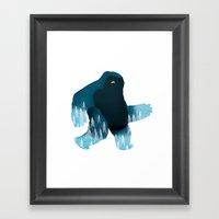 Yeti At Night Framed Art Print