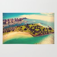 Ala Moana Beach Park, Magic Island, and Diamond Head  Rug