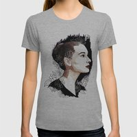 Audrey Hepburn Womens Fitted Tee Athletic Grey SMALL