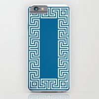 iPhone & iPod Case featuring Greek Key blue by ravynka