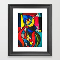 Within The Circle Framed Art Print