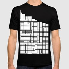 Map Black Boarder Mens Fitted Tee Black SMALL