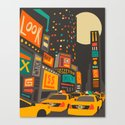 Time Square Canvas Print