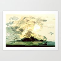 SUNSET AND HORIZON ABSTR… Art Print