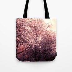 Surreal Ethereal Pink Blossoms Infrared Trees Nature Landscape Tote Bag