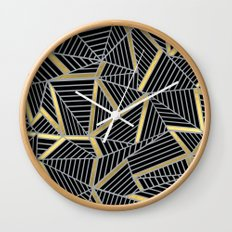 Ab 2 Silver and Gold Wall Clock
