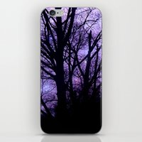 Purple Starry  Halloween iPhone & iPod Skin