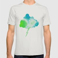 Calming Sky Mens Fitted Tee Silver SMALL